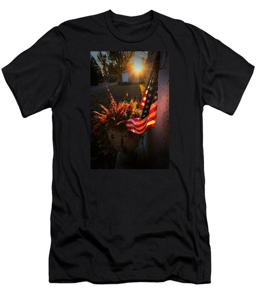 Men's T-Shirt (Slim Fit) featuring the photograph Thank You For Serving by Robert McCubbin