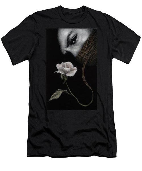 Men's T-Shirt (Slim Fit) featuring the painting That Which Will Not Be Silenced by Pat Erickson