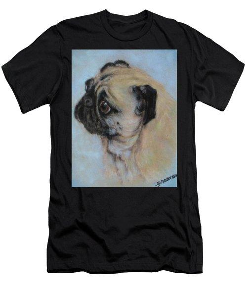 Pug's Worried Look Men's T-Shirt (Athletic Fit)