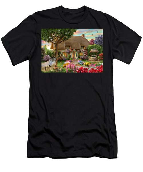 Thatched Cottage Men's T-Shirt (Athletic Fit)