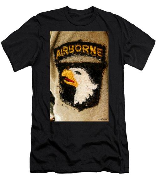 The 101st Airborne Emblem Painting Men's T-Shirt (Athletic Fit)