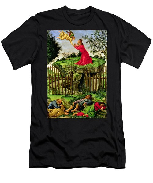 The Agony In The Garden, C.1500 Oil On Canvas Men's T-Shirt (Athletic Fit)