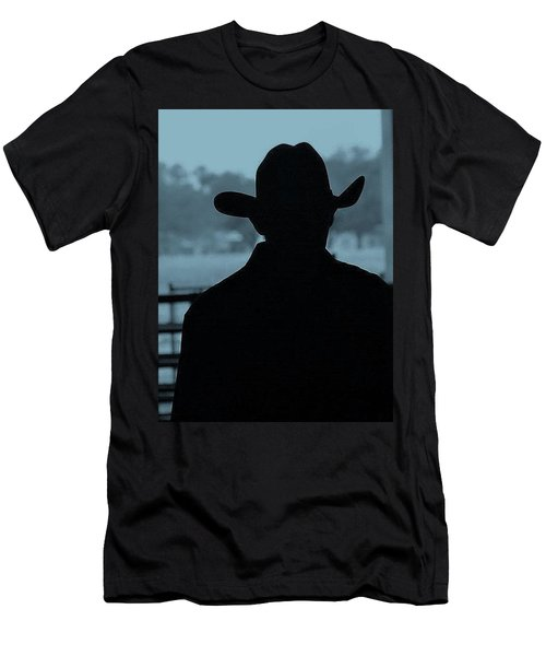 Men's T-Shirt (Slim Fit) featuring the photograph The American Cowboy by John Glass