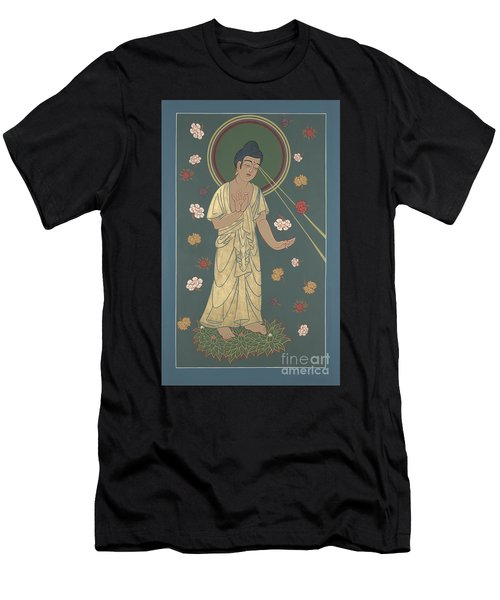 The Amitabha Buddha Descending 247 Men's T-Shirt (Slim Fit) by William Hart McNichols