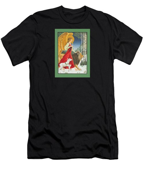 The Angel The Lion And The Lamb Men's T-Shirt (Athletic Fit)