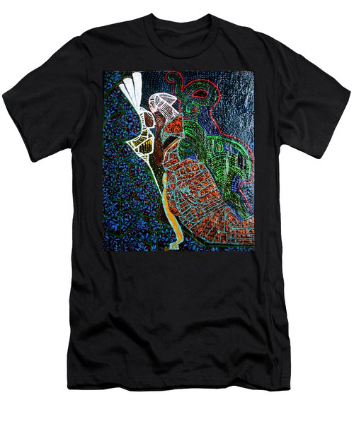 Men's T-Shirt (Slim Fit) featuring the painting The Annunciation by Gloria Ssali