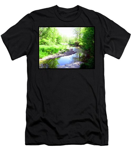 The Babbling Stream Men's T-Shirt (Slim Fit) by Shawn Dall