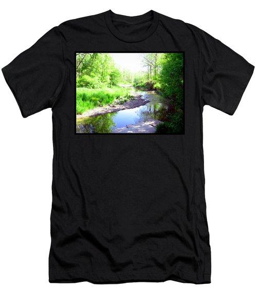 The Babbling Stream Men's T-Shirt (Slim Fit)