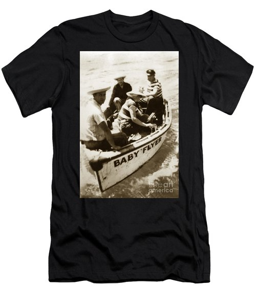 The Baby Flyer With Ed Ricketts And John Steinbeck  In Sea Of Cortez  1940 Men's T-Shirt (Athletic Fit)