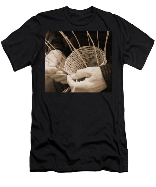 The Basket Weaver Men's T-Shirt (Slim Fit) by Marcia Socolik