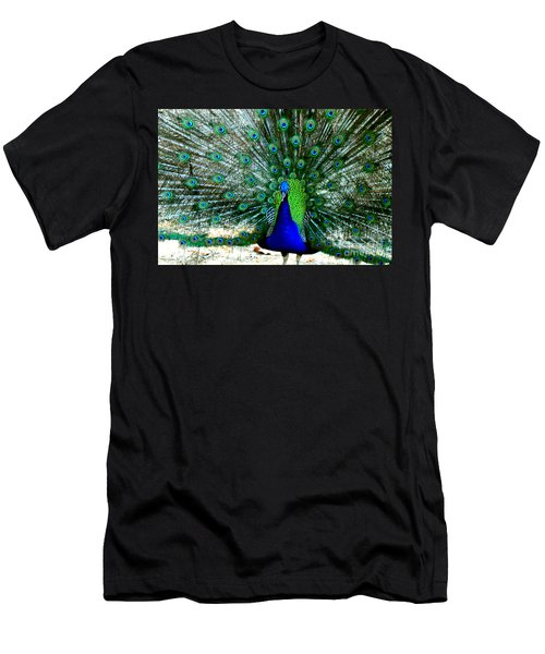 Men's T-Shirt (Slim Fit) featuring the photograph The Beautiful Plumage by Kathy  White