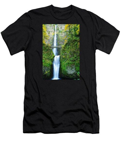 The Beauty Of Multnomah Falls Men's T-Shirt (Athletic Fit)