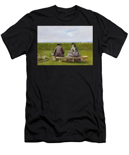 The Bench By The Sea Men's T-Shirt (Athletic Fit)