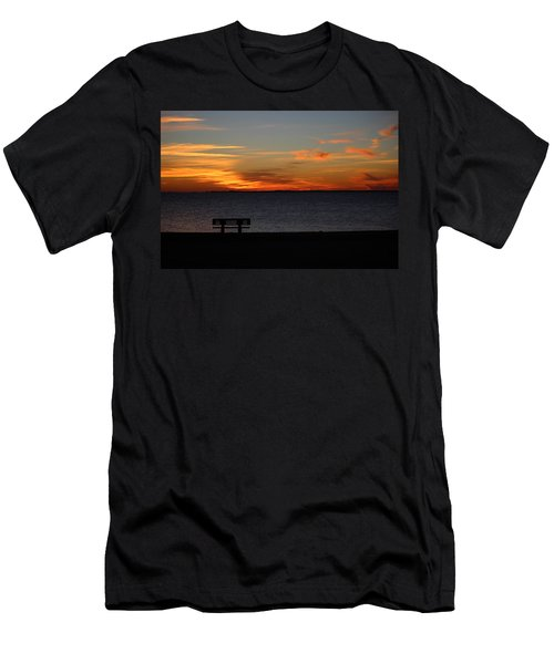 Men's T-Shirt (Slim Fit) featuring the photograph The Bench by Faith Williams