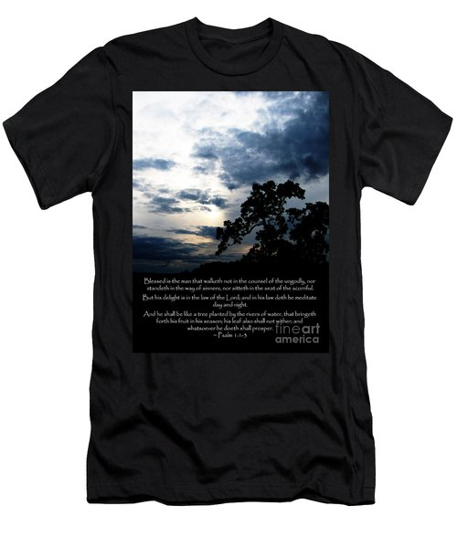 The Bible Psalm 1 Men's T-Shirt (Athletic Fit)