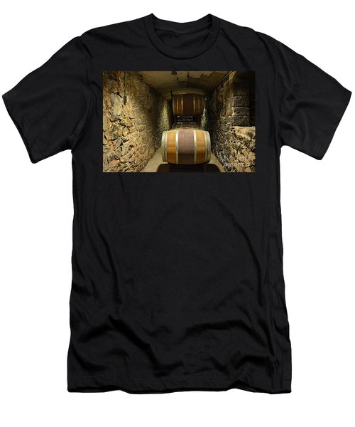The Biltmore Estate Wine Barrels Men's T-Shirt (Athletic Fit)