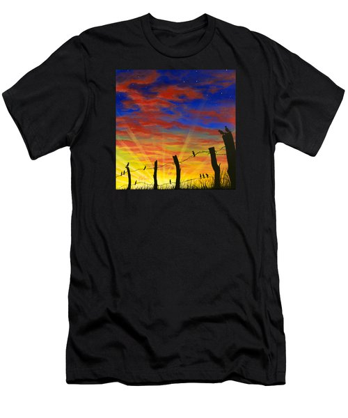 The Birds - Red Sky At Night Men's T-Shirt (Athletic Fit)