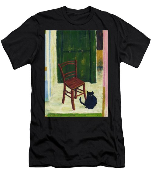 The  Black Cat Men's T-Shirt (Athletic Fit)