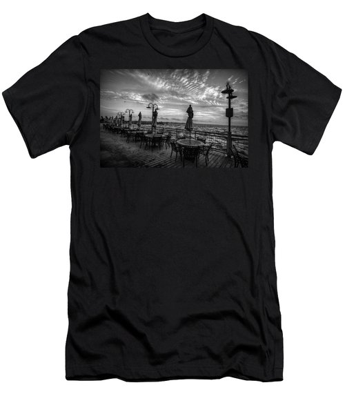 The Boardwalk Men's T-Shirt (Slim Fit) by Linda Unger