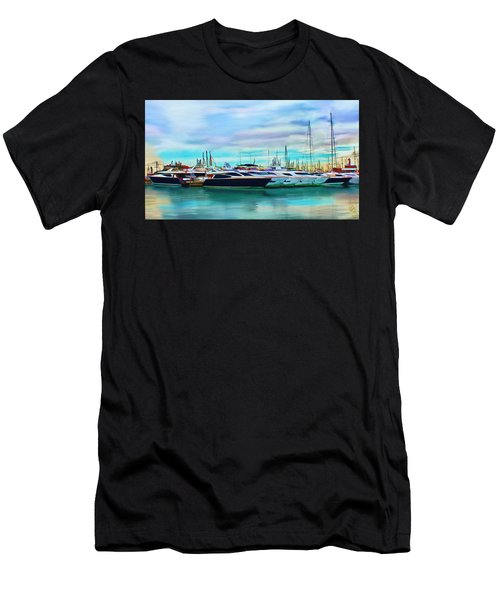 The Boats Of Malaga Spain Men's T-Shirt (Athletic Fit)