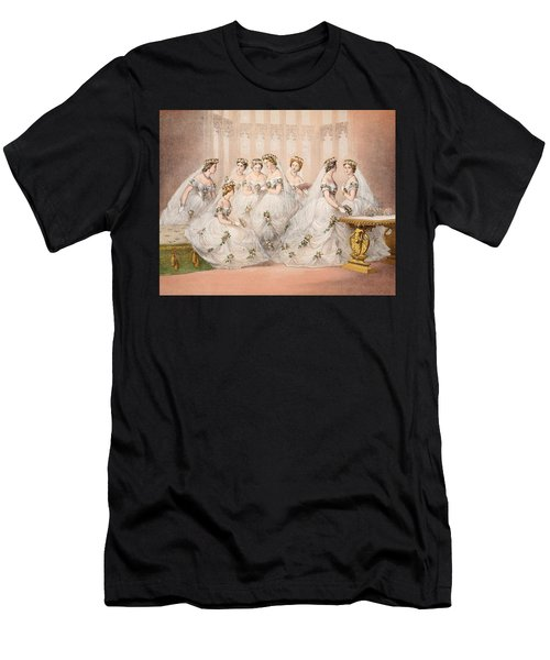 The Bridesmaids, 10th March, 1863 - Marriage Of Edward Vii And Alexandra Of Denmark Men's T-Shirt (Athletic Fit)