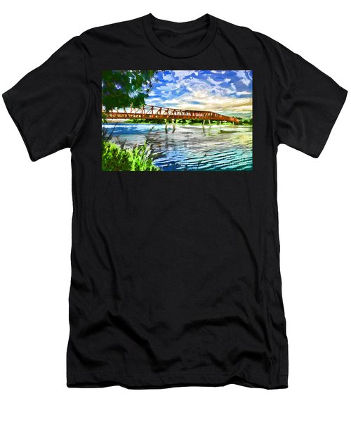 Men's T-Shirt (Athletic Fit) featuring the photograph The Bridge by Yew Kwang