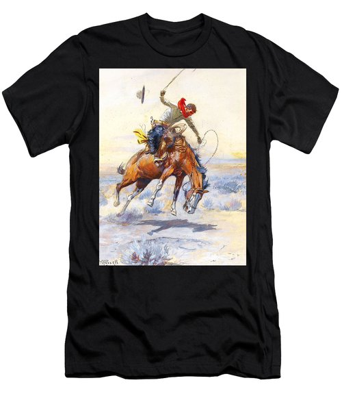The Bucker By Charles M Russell Men's T-Shirt (Athletic Fit)