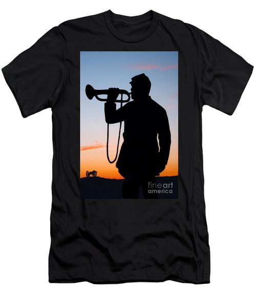 The Bugler Men's T-Shirt (Slim Fit) by Karen Lee Ensley
