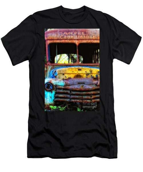 Men's T-Shirt (Slim Fit) featuring the photograph The Bus Stops Here by Erika Weber