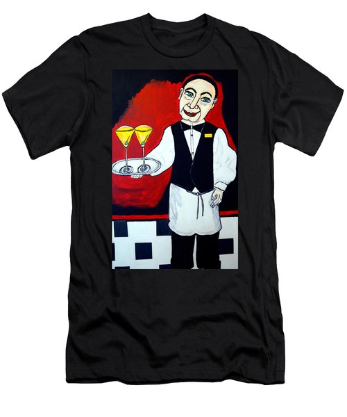 Men's T-Shirt (Slim Fit) featuring the painting The Butler  by Nora Shepley