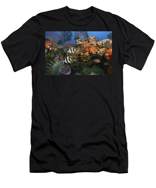 The Butterflyfish On Reef Men's T-Shirt (Athletic Fit)