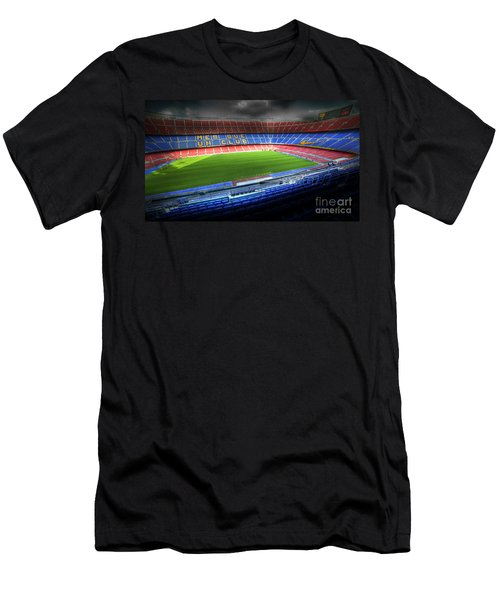 The Camp Nou Stadium In Barcelona Men's T-Shirt (Athletic Fit)