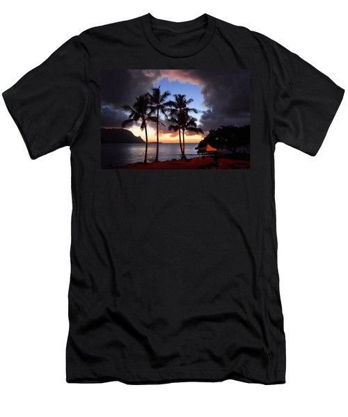 The Center Of The Storm Men's T-Shirt (Slim Fit) by Lynn Bauer