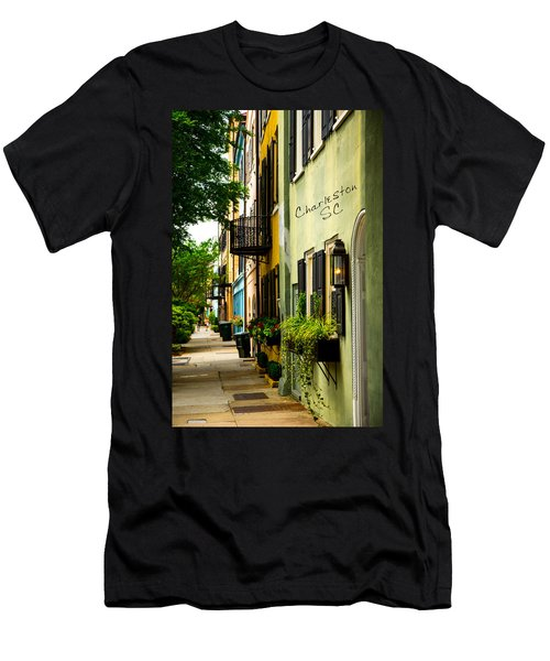 The Charm Of Charleston Men's T-Shirt (Slim Fit) by Karol Livote