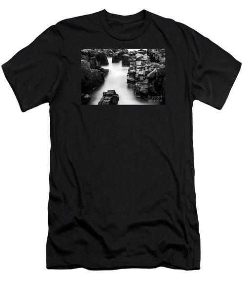 The Cliffs Men's T-Shirt (Slim Fit) by Gunnar Orn Arnason