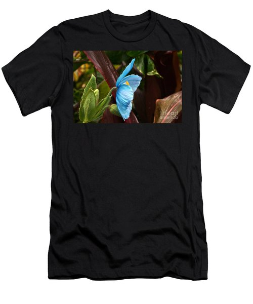 The Colors Of The Himalayan Blue Poppy Men's T-Shirt (Athletic Fit)