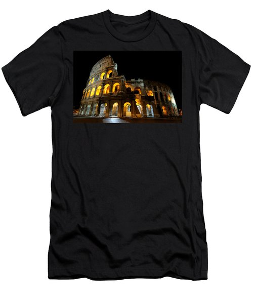 The Colosseum At Night Men's T-Shirt (Athletic Fit)