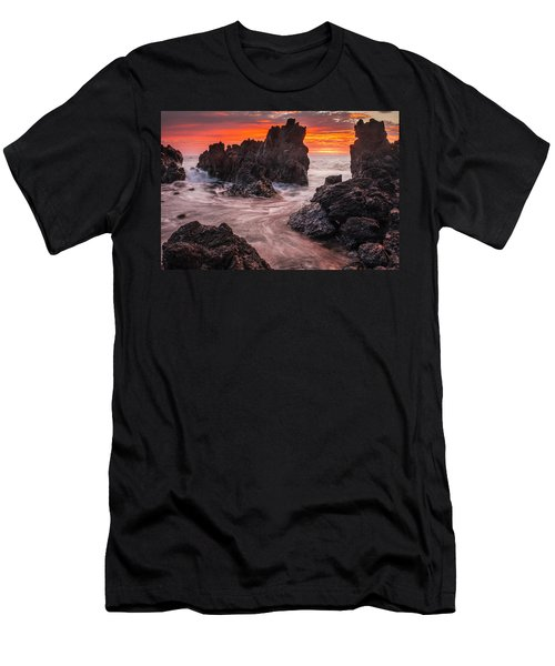 The Colours Of Sunrise Behind Coastal Men's T-Shirt (Athletic Fit)