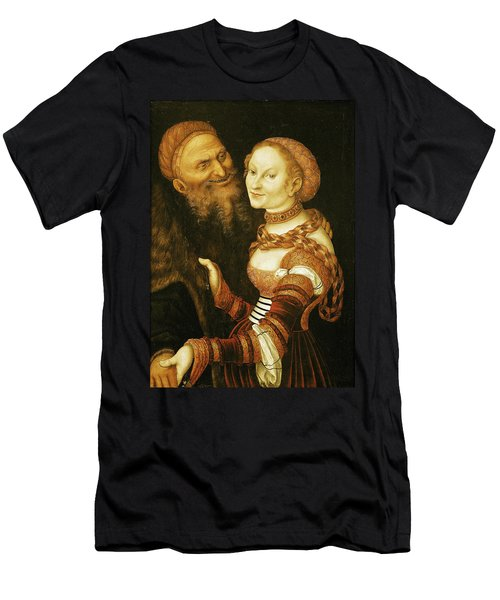 The Courtesan And The Old Man, C.1530 Oil On Canvas Men's T-Shirt (Athletic Fit)