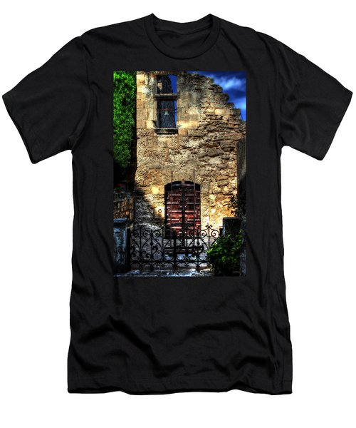 Men's T-Shirt (Slim Fit) featuring the photograph The Cypress And The Bell France by Tom Prendergast
