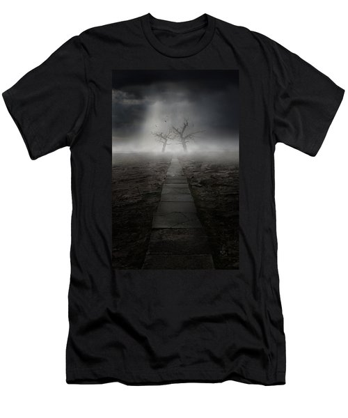 Men's T-Shirt (Athletic Fit) featuring the photograph The Dark Land by Jaroslaw Blaminsky