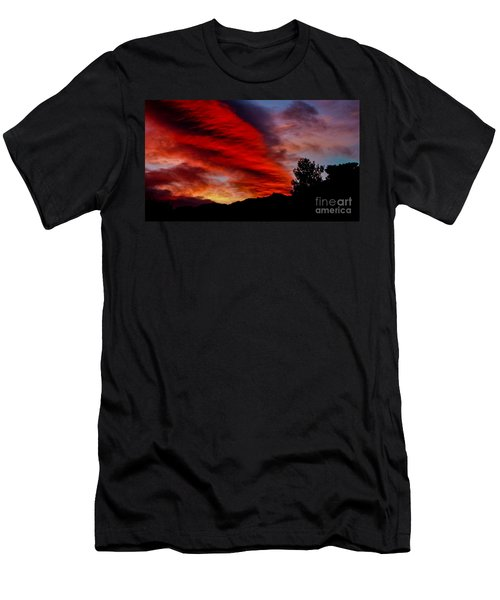 The Day Is Done Men's T-Shirt (Slim Fit) by Angela J Wright