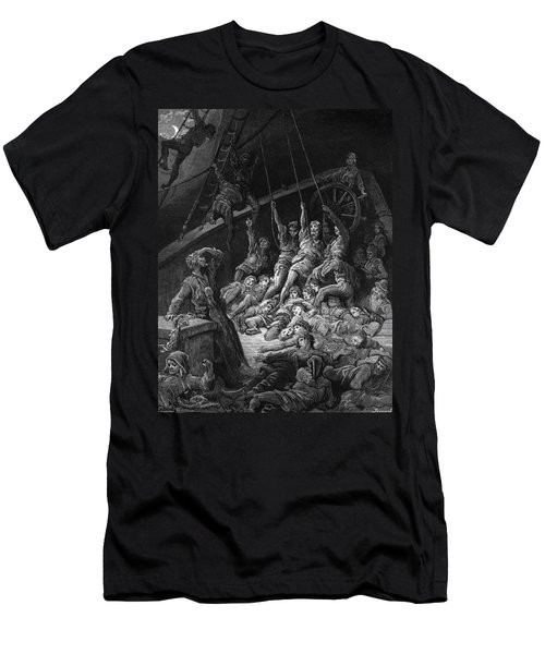 The Dead Sailors Rise Up And Start To Work The Ropes Of The Ship So That It Begins To Move Men's T-Shirt (Slim Fit) by Gustave Dore
