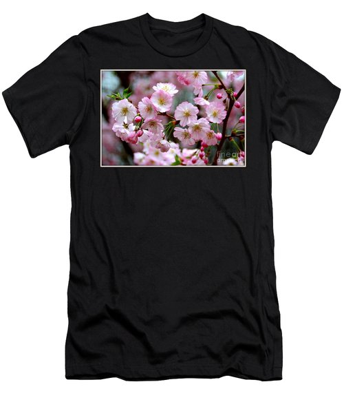 The Delicate Cherry Blossoms Men's T-Shirt (Slim Fit) by Patti Whitten