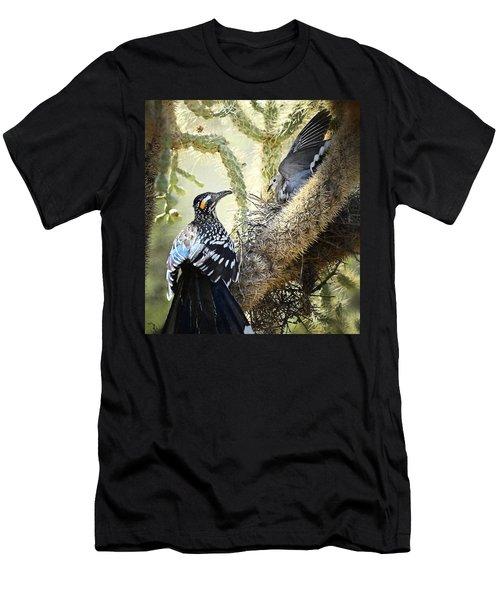 The Dove Vs. The Roadrunner Men's T-Shirt (Slim Fit) by Saija  Lehtonen