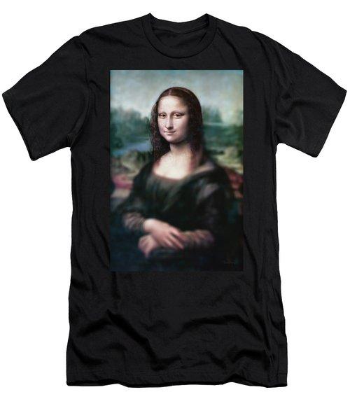 The Dream Of The Mona Lisa Men's T-Shirt (Slim Fit) by David Bridburg