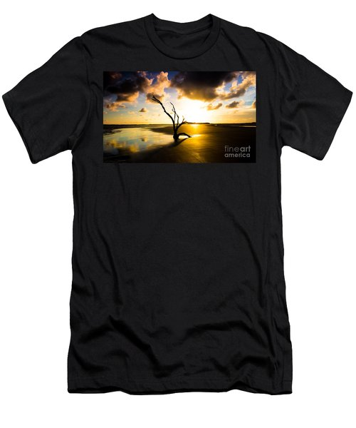The Driftwood Tree Folly Beach Men's T-Shirt (Athletic Fit)
