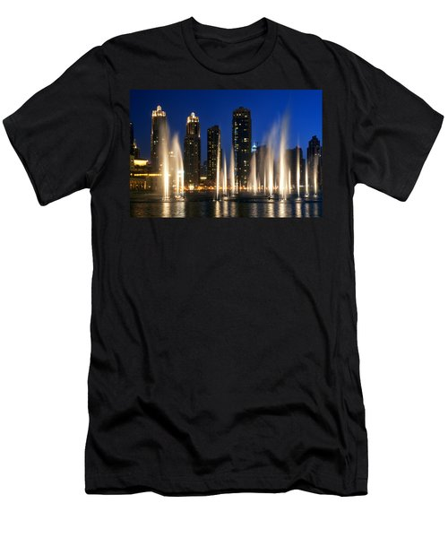 The Dubai Fountains Men's T-Shirt (Athletic Fit)