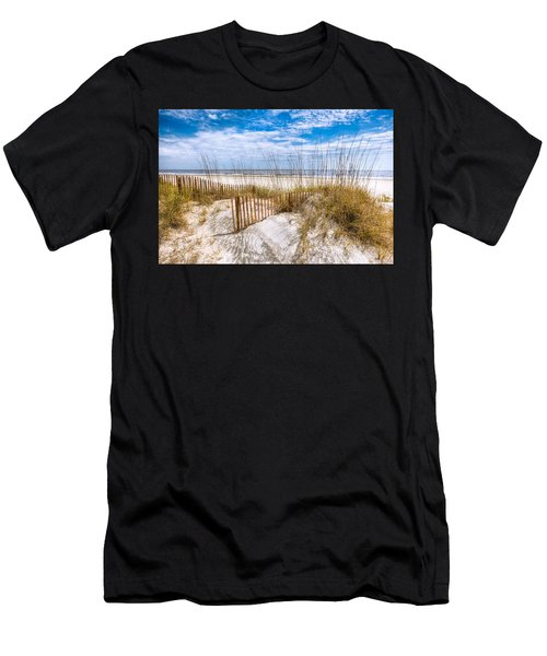 Men's T-Shirt (Athletic Fit) featuring the photograph The Dunes by Debra and Dave Vanderlaan