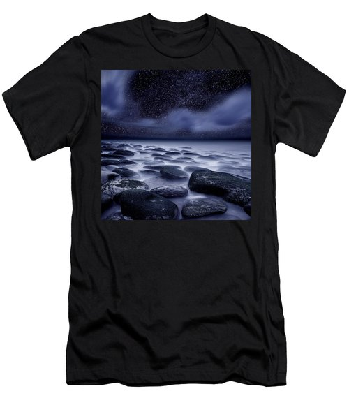 The Edge Of Forever Men's T-Shirt (Slim Fit) by Jorge Maia